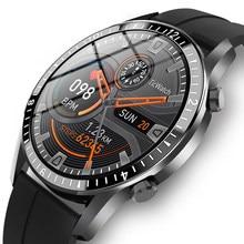 Gejian 2021 novo relógio inteligente dos homens tela de toque completa esportes fitness relógio ip67 à prova dip67 água bluetooth para android ios smartwatch