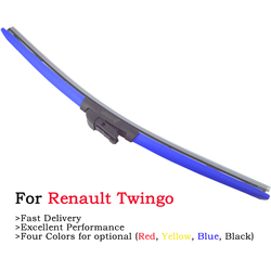Colorful Frameless Hybrid Car Windshield Wipers For Renault Twingo 1 2 3 RS I II III MK1 MK2 Model Accessories 2000-2020 24