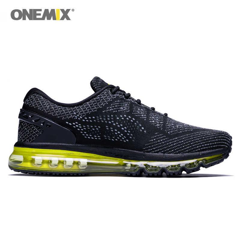 Onemix Air męskie buty do biegania amortyzacja unikalna konstrukcja oddychające buty sportowe sportowe odkryte trampki mężczyźni zapatos de hombre
