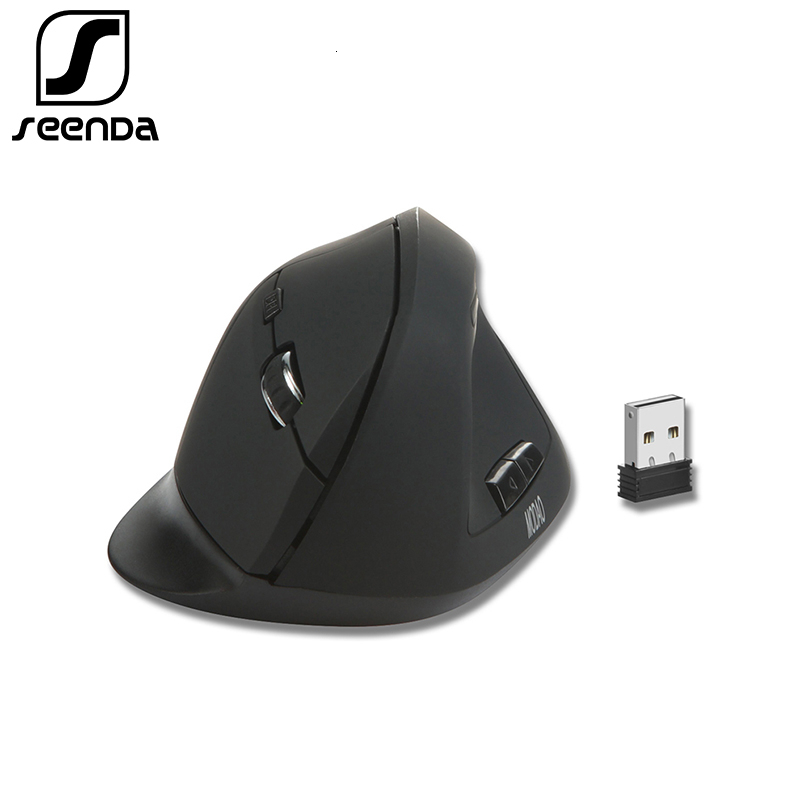 SeenDa Vertical Wireless Mouse 2.4G USB Type C Ergonomic Mouse For Laptop PC Computer MacBook Gaming Mouse 800/1200/1600 DPI
