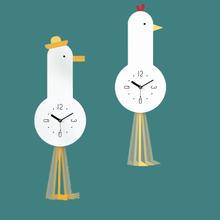 Настенные часы в нордическом минималистическом стиле креативные