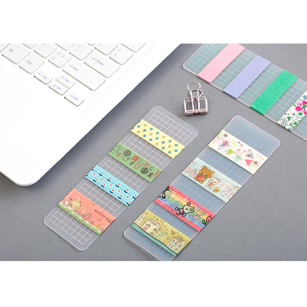 12Pcs PVC Washi Tape Storage Bookmark Washi Tape Separate Office School Supplies