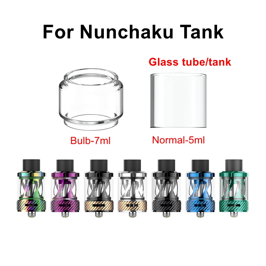 HXJVAPE Original Pyrex Bubble Bulb Glass Tube Tank Fit For Uwell Nunchaku Tank 5ml Atomizer