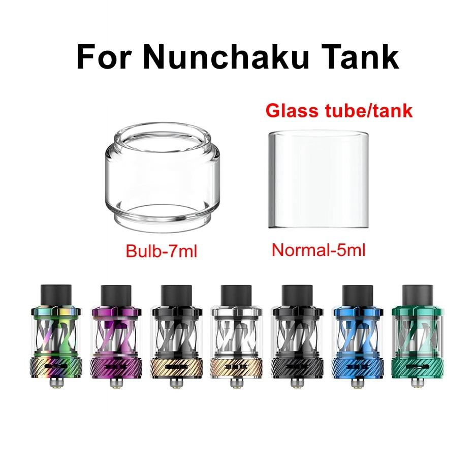 HXJVAPE Original Pyrex Bubble Bulb Glass Tube Tank Fit For Uwell Nunchaku Tank 5ml Atomizer
