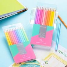 12/24 Colors Creative Colored Pencils Set Non-toxic Pencil For Students Kids Drawing Pens Writing Pencil School Art Supplies New