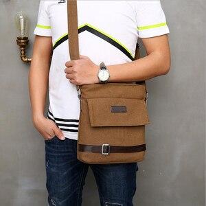 Image 1 - Новинка 2020 мужская сумка для отдыха сумка через плечо с дорожным холщовым материалом мужские сумки через плечо сумка мессенджер