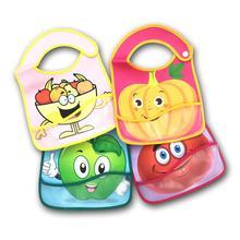 1pc Baby Bib Waterproof Lunch Feeding Bibs  Cute Cartoon Cloth Towels Children Long Sleeve Apron Burp Clothes