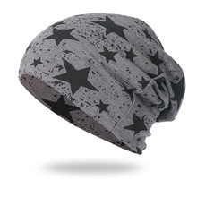 Spring Star Cotton Beanie Hat for Women and Men Causal Thin Slouchy Bea