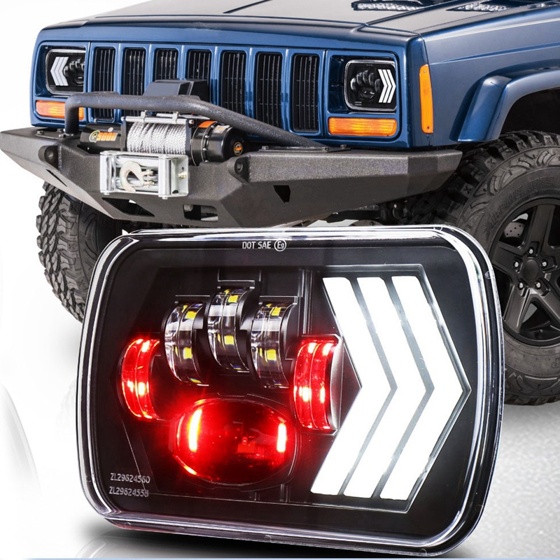 2Pcs 5X7 Inch LED Headlight Angel Eye,55W 4800Lm H4 Wiring ... Jeep To Chevy Wiring Harness on jeep wrangler wiring diagram, jeep ignition switch wiring diagram, jeep yj wiring diagram, chevy 4.3 wiring harness, chevy engine wiring harness, jeep to chevy motor mounts,