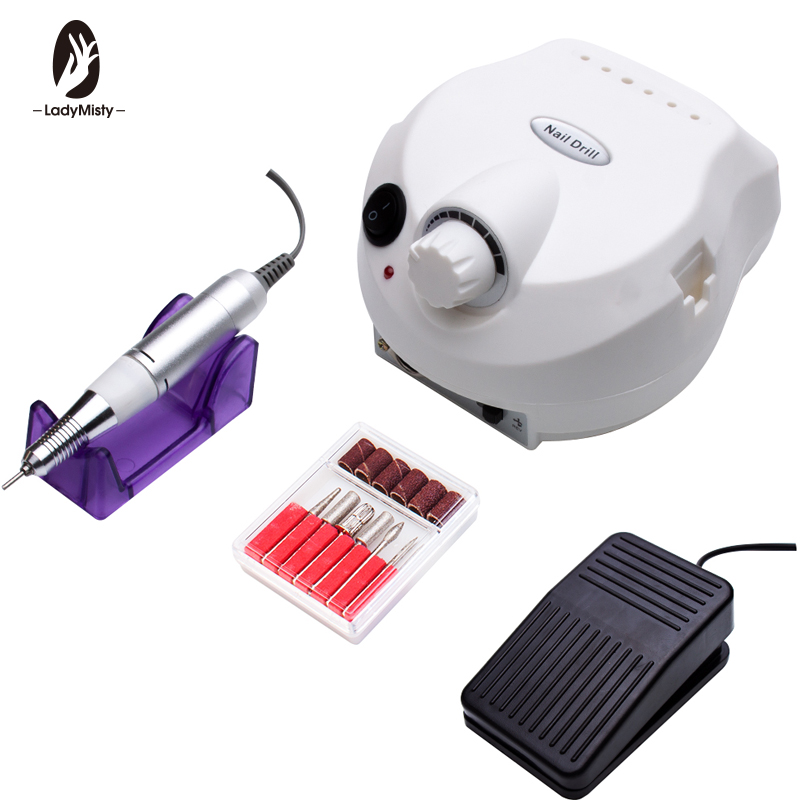 Ladymisty Machines For Manicure 30000rpm Nail Drill Bit Apparatus Pro Electric Nail Drill Machine Drills Accessory Pedicure KitElectric Manicure Drills   -