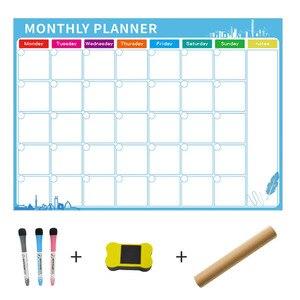 Image 5 - A3 tablica miesięczny terminarz magnetyczna tablica ogłoszeń do szkoły biuletyn tablice Memo lodówka magnes kalendarz terminarz