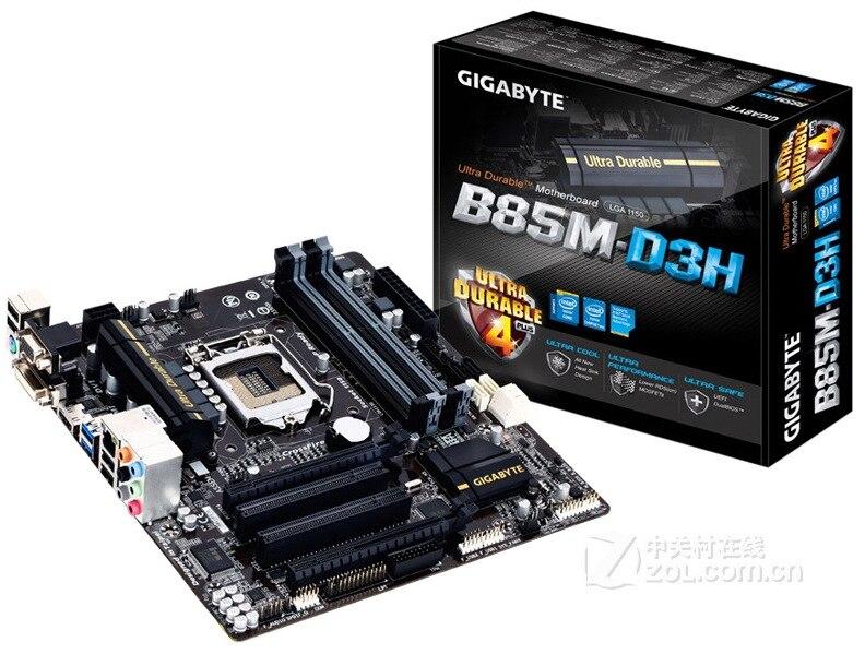 Gigabyte B85m-d3v-a 1150 Board Four Slot Support E3-1231v3