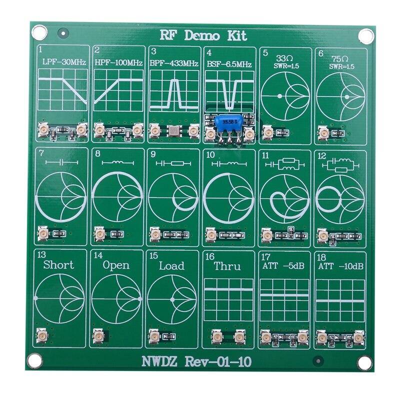 Комплект для демонстрации радиочастотных фильтров, аттенюатор для векторного анализатора сети Nano VNA, тестовая плата RF