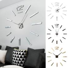 Современный дизайн Мини DIY большие настенные часы-наклейка немой Цифровой 3D стены большие часы Гостиная Офис Рождественский подарок-украшение