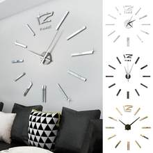Diseño moderno Mini DIY grande pared-reloj pegatina Mute Digital 3D pared gran reloj sala de estar hogar Oficina Decoración regalo de Navidad(China)