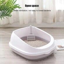 Sand-Box Cat-Litter-Box Dog-Tray Clean-Scoop Cat Toilet Semi-Enclosed Pet Plastic Detachable