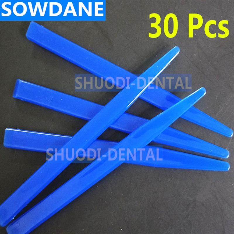 30 Pcs Dental Slim Plastic Spatula For Mixing Dental Lab Laboratory  Spatula
