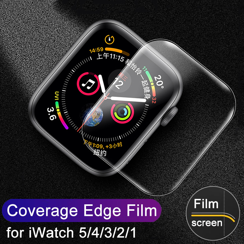 3D Full Cover PET Protective Film For Apple IWatch Series 5 4 40mm 44mm Screen Protector Soft Film For Watch 1 2 3 38mm 42mm