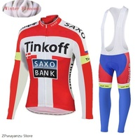 2019 Mns Saxo Bank Tinkoff Fluorescent green Cycling Clothing MTB Bike Wear autumn Cycling Clothing set