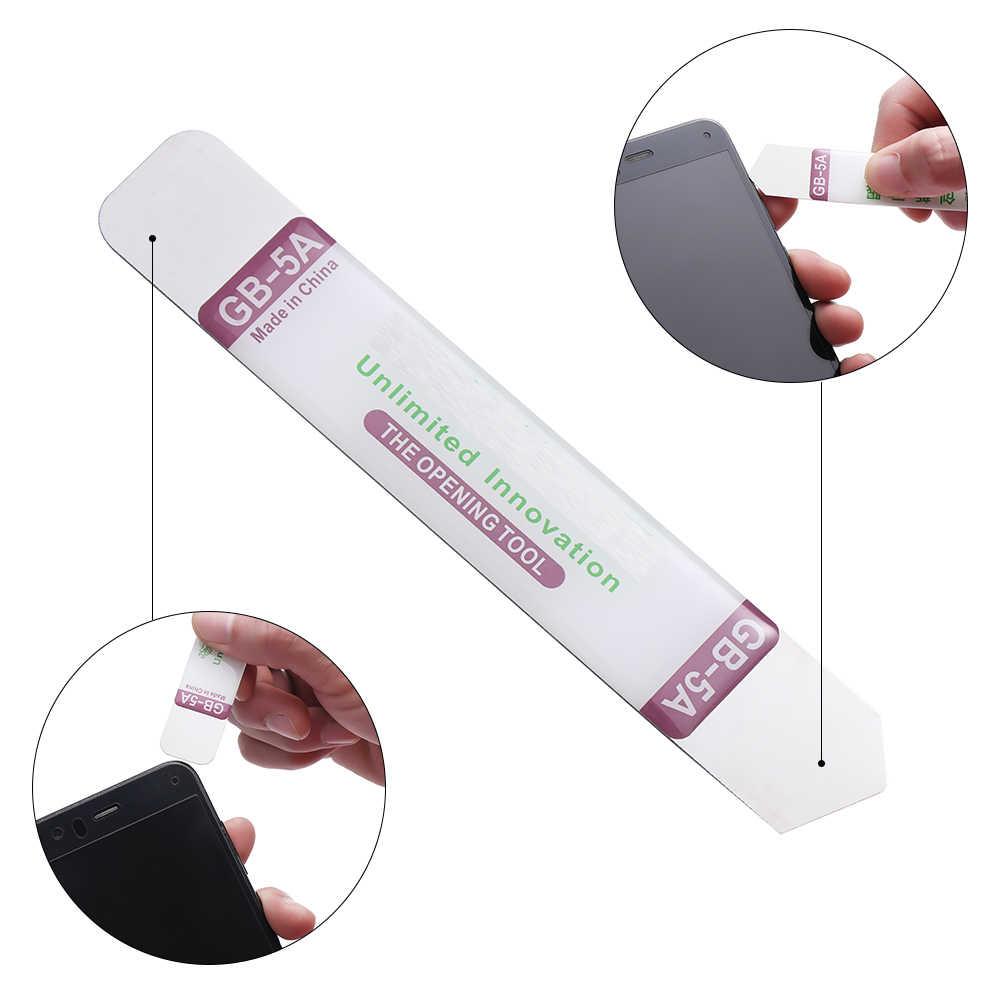 1/2/3 piezas de acero inoxidable palanca plana de pantalla de hoja suave herramienta de reparación de pantallas de teléfono roto pegamento eliminación de Smartphone partes