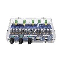 TPA3116D2 بلوتوث مكبر للصوت مجلس الصوت 2x50 واط + 2x100 واط جهاز تضخيم الصوت 4 قناة الطاقة الرقمية مكبر للصوت
