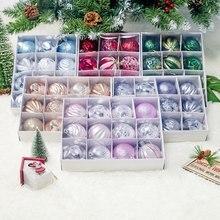 12 шт Рождественская елка шар Декор шар-безделушка подвески для рождественской вечеринки Шар Орнамент 6 см украшения для дома Рождественские украшения подарки