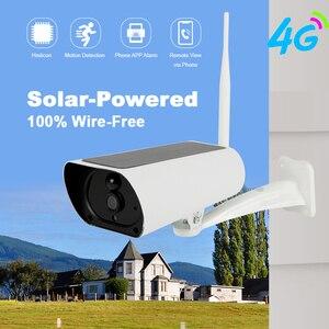 Камера Наружного видеонаблюдения на солнечной батарее, 4G, 1080P, PIR, IP66, водонепроницаемая, зарядка от солнечной батареи, инфракрасное ночное в...