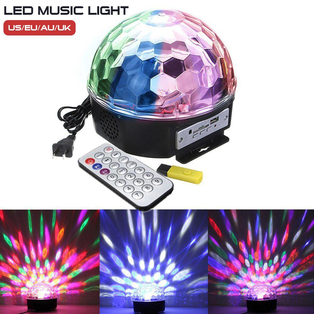 Disco Lights Party Lights Color Changing Stage Light 6W Sound Activated Disco Ball for Party KTV Club Lights KTV Xmas Wedding