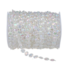 10mmx30m Acrylic Beads Strand Line Chain Wedding Party Diamond Crystal Garland Decors Rhinestone Curtain(China)