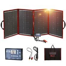 Dokioยืดหยุ่นพับเก็บได้200W(50Wx4) mono Solar PanelสูงแบบพกพาโซลาแผงสำหรับRV & เรือ & Travelพลังงานแสงอาทิตย์แผงจีน