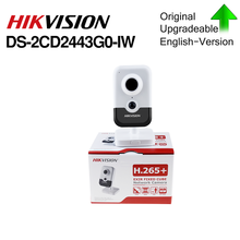 Hikvision DS 2CD2443G0 IW Wi Fi מצלמה מעקב וידאו 4MP IR קבוע קוביית IP אלחוטי מצלמה דו כיוונית אודיו H.265 +