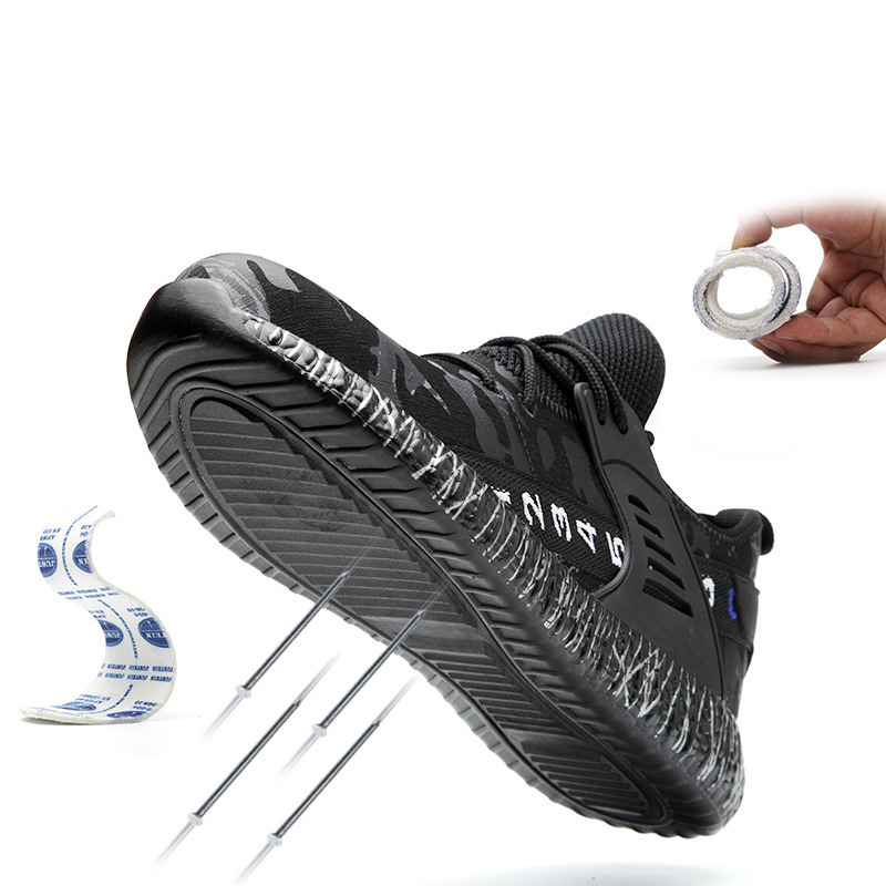 Manlegu/дышащая безопасная обувь, противоразбивающие проколы, защитные ботинки для мужчин, рабочие ботинки со стальным носком, неразрушаемая о...