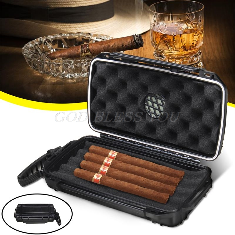 Cigar Plastic Travel Humidor Case - Waterproof, Dustproof, Shockproof Premium