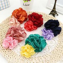 Модные детские заколки-невидимки с большими цветами розы для маленьких девочек Бант Шпилька заколки невидимые заколки для волос и зажимы д...
