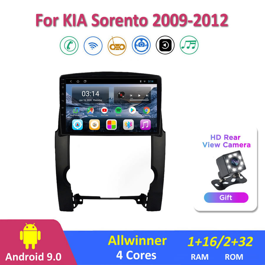 10 ''IPS Android 9,0 автомобильное радио Мультимедиа KIA Sorento 2009/2011/2012 GPS навигация Navi плеер Авто Стерео 2din WIFI