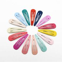 80 Pcs/pack Children Color Drop shaped Paint Hairpin Side Bangs Clips Snap on Hair Clip For Girls Baby Kids Y4QB