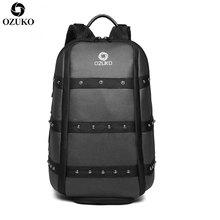 OZUKO Multifunction Men Travel Backpack Male 15.6inch Laptop Backpacks Large Capacity Teenage School Backpack Waterproof Mochila