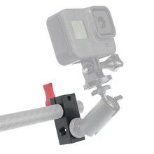 """1/4 """"gwint 15mm pręt statyw dslr szyna nośna System podążaj za magicznym ramieniem Monitor Rig Mount Block zacisk rury klatka operatorska klip Adapter"""