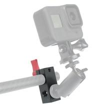 """Suporte de haste de 1/4 """"15mm, sistema de montagem por trilho dslr, maçaneta para braço mágico adaptador gaiola da câmera"""