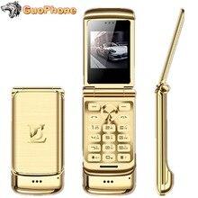 Роскошный флип-телефон Ulcool V9, 1,54 дюймов, две sim-камеры, MP3, Bluetooth, FM, Dialer, анти-потеря, металлический корпус, мини мобильный телефон