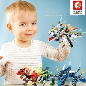 Image 2 - を千房けん輔ブロック142個ninjagosドラゴン騎士互換忍者zane会ジェイ教育diyのレンガのおもちゃ子供