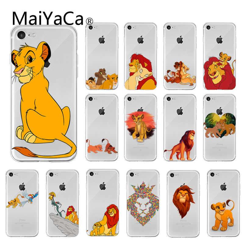 Maiyaca leão dos desenhos animados rei caso de telefone capa para iphone 11 pro max 8 7 6 s plus x xs max 5 5S se xr 10 capa
