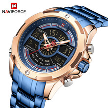 New NAVIFORCE Luxury Brand Mens Watches Fashion Waterproof Digital Sport Military Quartz Wrist watch Clock Men Relogio Masculino(China)