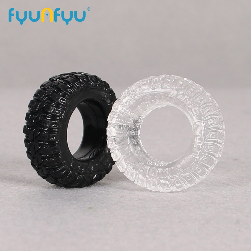 2PCS Tire Type Silicone Delay Ejaculation Cock Rings Adult Products Male Sex Toy Cock Ring Color Random Cock Rings