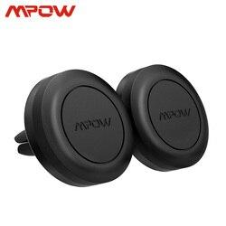 Mpow 2 pçs ca018 magnético carro montar titular do telefone universal suporte de ventilação ar para o iphone 11 x samsung s10 huawei companheiro 30 xiaomi 10