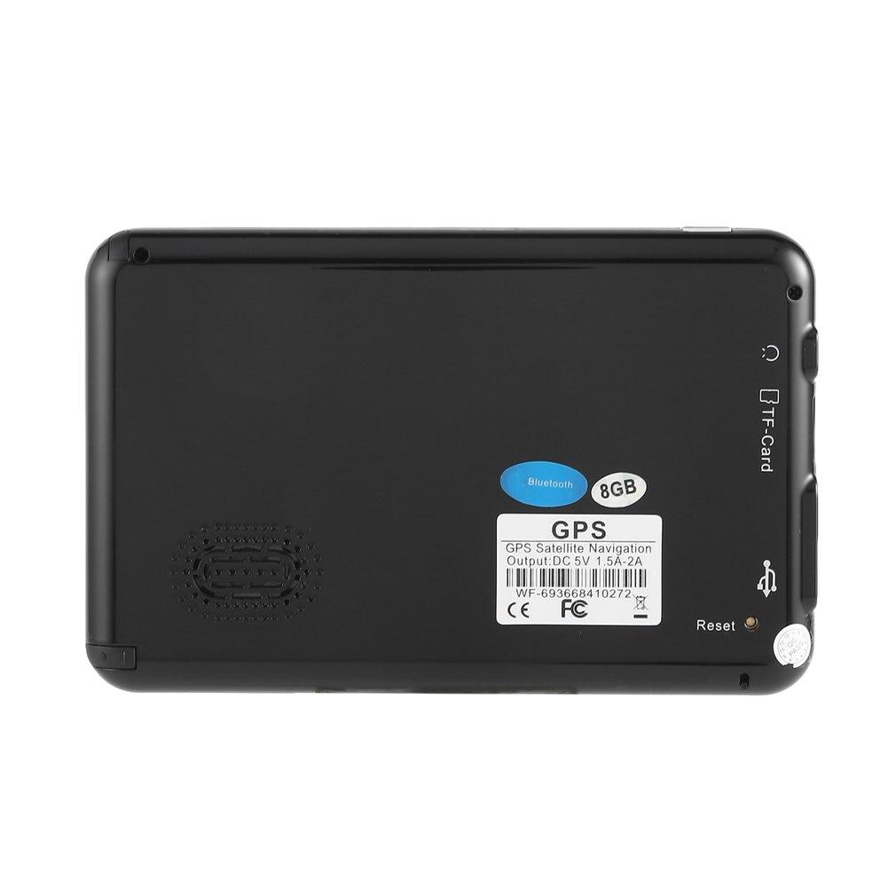 886 560 HD Car Truck GPS Navigation 256M+8GB Reversing Camera Touchscreen FM Navigator Accurately Position Black
