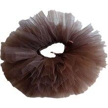 Юбка-пачка кофейно-коричневый Цвет Детский костюм для девочек с юбкой-пачкой ручной работы пушистая балетная танцевальная одежда для рожде...