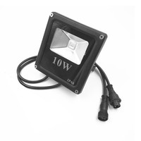 DHL freeshipping 10pcs Smart 10W LED Flood Light WS2811 Controlled IP66 Waterproof with Spike and ray/paul/xconnect connector