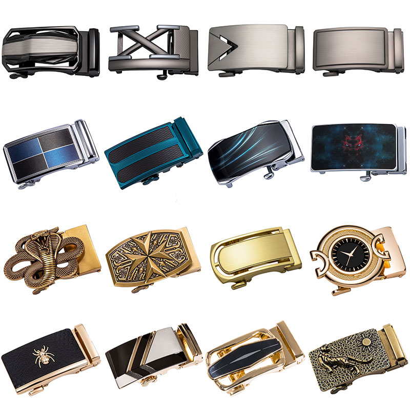 2019 Famous Brand New Automatic Belt Buckles For Men Waistband Ratchet Belt Buckle Without No Belt Fit 3.5cm Leather Belt Buckle