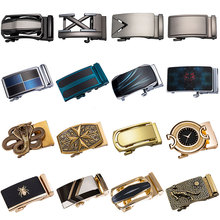 2019 Famous Brand New Automatic Belt Buckles for Men Waistband Ratchet Buckle Without No fit 3.5cm Leather